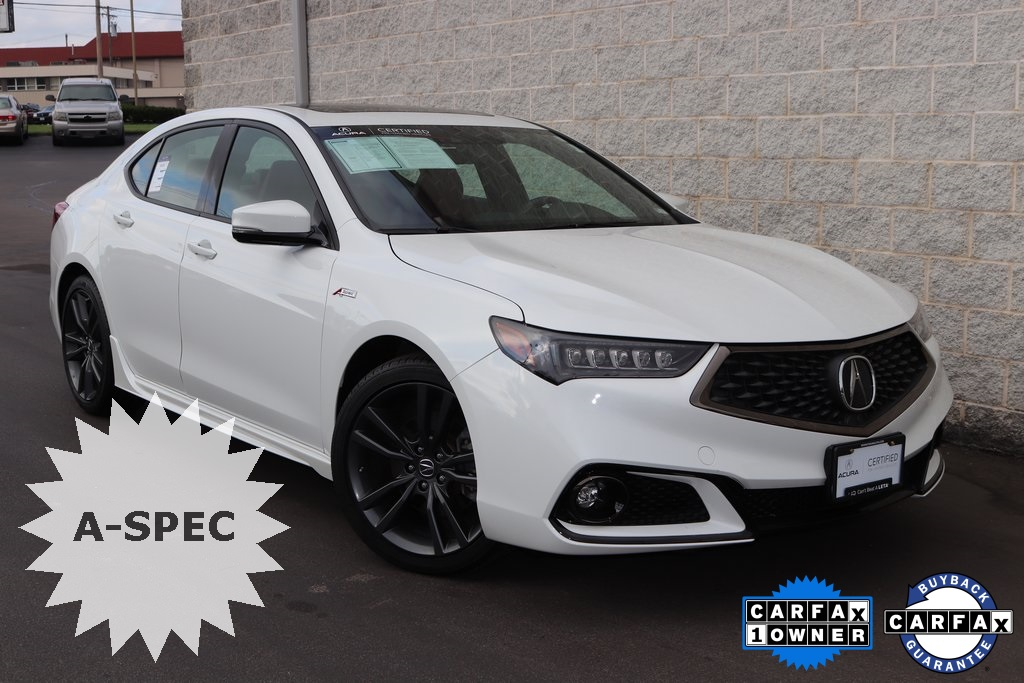 Certified PreOwned Acura TLX V AT SHAWD With ASPEC - 2018 tlx acura